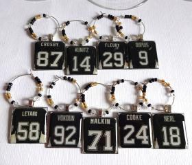 Pittsburgh Penguins Wine Charm Set
