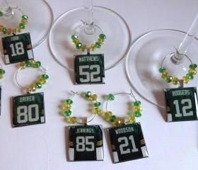 Green Bay Packers Wine Charm Set